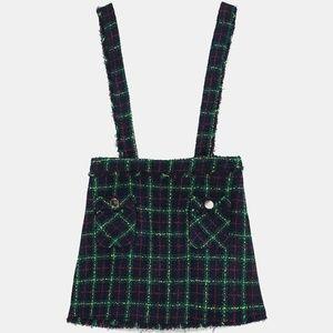 Zara Skirts - [SOLD]NWT Zara Size XS Tweed Overall Skirt